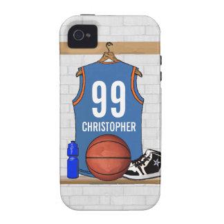 Jersey personalizado del baloncesto (libras) iPhone 4 carcasa