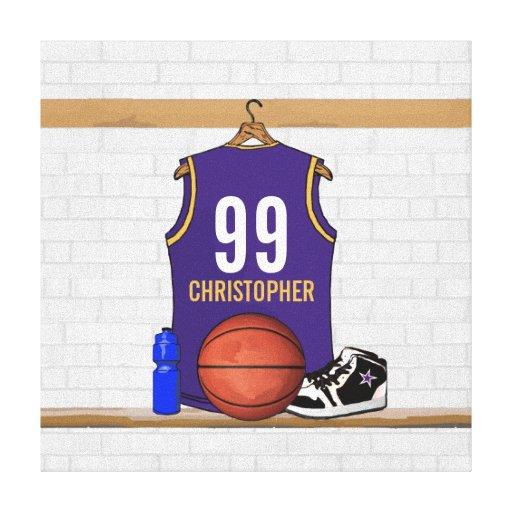 Jersey personalizado del baloncesto (PÁGINA) Lienzo Envuelto Para Galerias