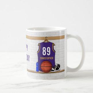 Jersey personalizado del baloncesto (PÁGINA) Taza