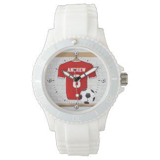Jersey personalizado del fútbol del fútbol relojes de mano