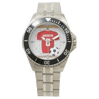 Jersey personalizado del fútbol del fútbol relojes de pulsera