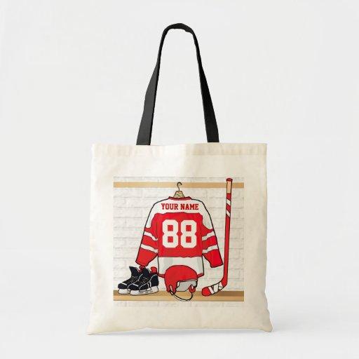 Jersey personalizado del hockey sobre hielo bolsa de mano
