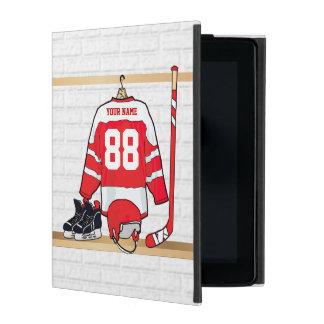 Jersey personalizado del hockey sobre hielo iPad carcasa