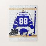 Jersey personalizado del hockey sobre hielo rompecabeza