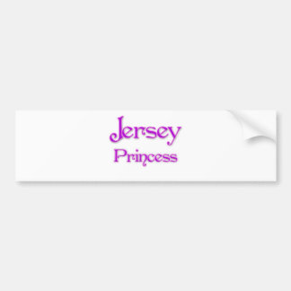 Jersey Princess Bumper Sticker