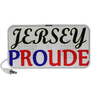 Jersey Proud Doodle iPhone Speaker