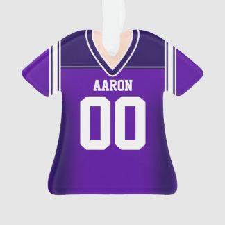 Jersey púrpura/blanco del fútbol