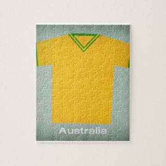 Jersey retro Australia del fútbol Puzzle