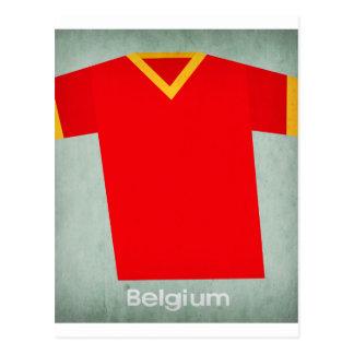 Jersey retro Bélgica del fútbol Postales