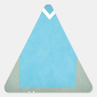 Jersey retro del fútbol de Uruguay Pegatina Triangular