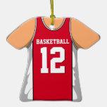 Jersey rojo/blanco personalizado 12 V1 del balonce Ornamentos De Reyes Magos
