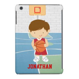 Jersey rojo del baloncesto del jugador de básquet fundas de iPad mini retina