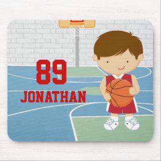 Jersey rojo del baloncesto del jugador de básquet  tapete de ratones