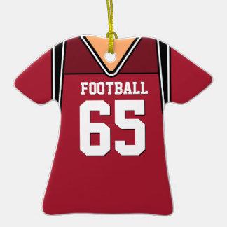 Jersey rojo oscuro personalizado 65 V1 del fútbol Ornamentos De Reyes Magos