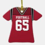 Jersey rojo oscuro personalizado 65 V2 del fútbol Adornos De Navidad