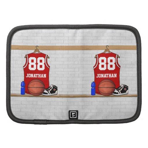 Jersey rojo personalizado del baloncesto organizadores