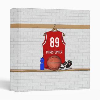 """Jersey rojo y blanco personalizado del baloncesto carpeta 1"""""""