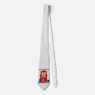 Jersey rojo y blanco personalizado del baloncesto corbatas personalizadas