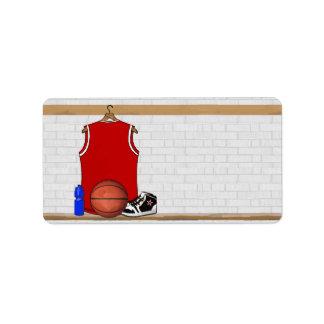 Jersey rojo y blanco personalizado del baloncesto etiqueta de dirección