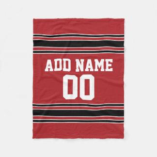 Jersey rojo y negro de los deportes personalizado