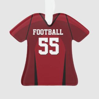 Jersey rojo y negro del fútbol