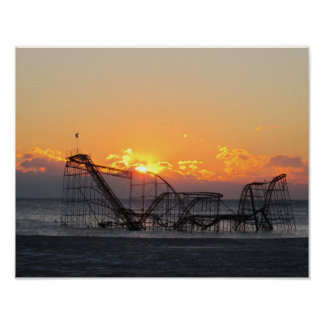 Jersey Shore after Hurricane Sandy Poster