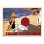 Jersey Shore Beach Family Bathing Postcard at Zazzle