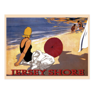 Jersey Shore Beach Family Bathing Postcard