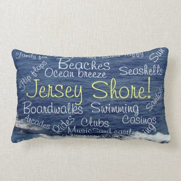 Beach Themed Jersey Shore Beach Waves Tranquility Pillow