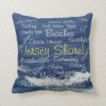 Jersey Shore Beach Waves Tranquility Pillow Pillows