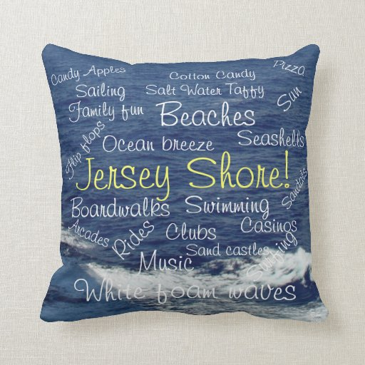 Jersey Shore Beach Waves Tranquility Pillow Pillows