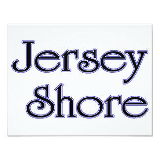 Jersey Shore blue 4.25x5.5 Paper Invitation Card