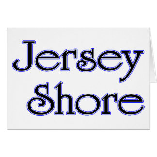 Jersey Shore blue Greeting Card