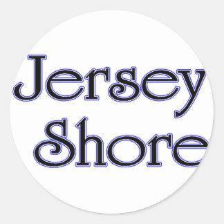 Jersey Shore blue Classic Round Sticker