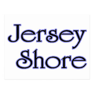 Jersey Shore blue Postcard