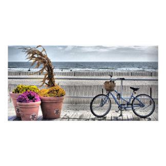 Jersey Shore Boardwalk HDR Photo Card