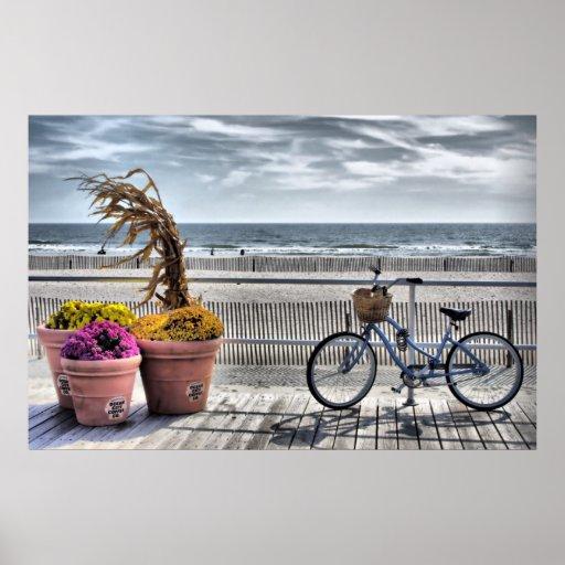 Jersey Shore Boardwalk   HDR Print