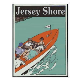 Jersey Shore Boat Ride, Vintage Style Postcard