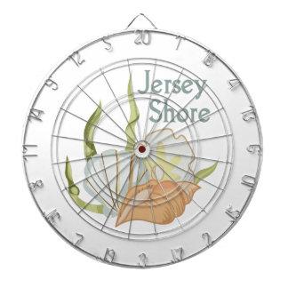 JERSEY SHORE DARTBOARD WITH DARTS