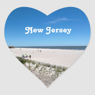 Jersey Shore Heart Sticker