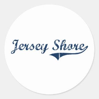 Jersey Shore Pennsylvania Classic Design Classic Round Sticker