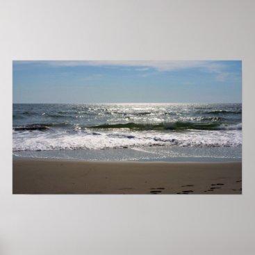 Beach Themed Jersey Shore Poster