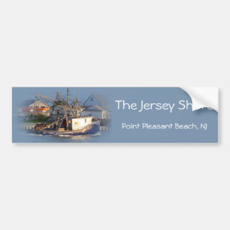 Jersey Shore - Pt. Pleasant Beach - Fishing Boat Bumper Stickers