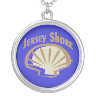 Jersey Shore Shell Silver Plated Necklace
