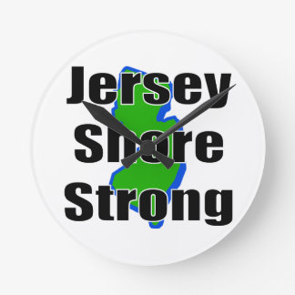 Jersey Shore Strong.png Round Clocks