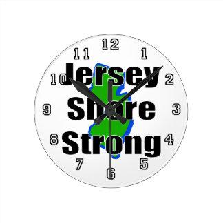 Jersey Shore Strong.png Wall Clocks