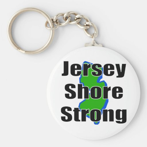 Jersey Shore Strong.png Basic Round Button Keychain