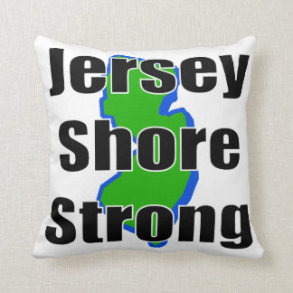 Jersey Shore Strong.png Throw Pillow