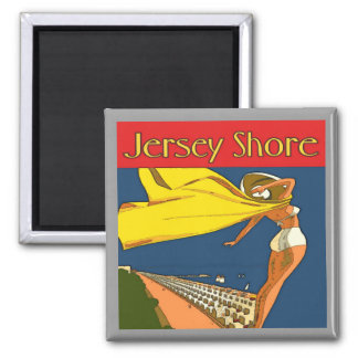 Jersey Shore Vintage 2 Inch Square Magnet