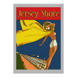 Jersey Shore Vintage Style Poster at Zazzle